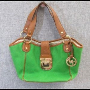 MICHAEL KORS KELLY GREEN - DOUBLE STRAP HANDBAG